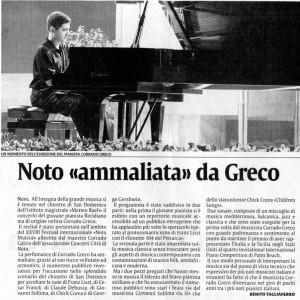 Corrado Greco incanta Noto (Sicilia)