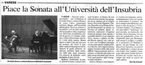 Greco e Bonucci all'Università di Insubria (Prealpina)