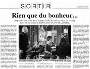Est Republicain 26 luglio 2007